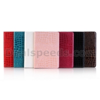 Crocodile Pattern Rose Pink PU for iPad Leather Case Flip Cover for iPad Pro 12.9