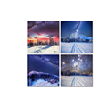Wholesale Canvas Artwork The Milky Way Picture Canvas Prints Snow Scenery Canvas Wall Art for Home and Office Decor 4 Panel