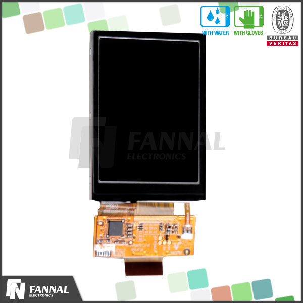 Cheap customized QVGA RGB interface 2.8 inch LCD capacitive outdoor touch screen