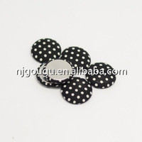 polka dots magnetic button round fabric covered custom magnetic buttons