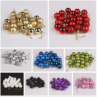 DM 553 new Christmas tree ornaments decorations solid color 3cm shine colorful christmas baubles