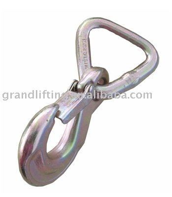 triangle ring with hook and safety latch