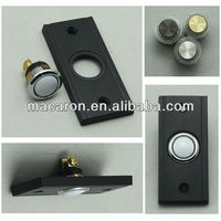 Black wired doorbell push button ma1632