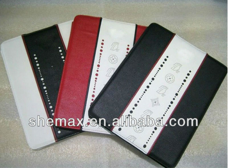 Car Logo Leather Case For new ipad 2