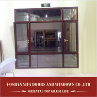 2014 YiFa aluminum alloy profile antique windows for sale new products on china market Power coated grain color Guangdong