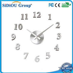 big transparent led floating clock