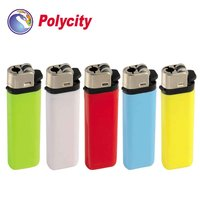 Disposable flint gas lighter with round bottom shape