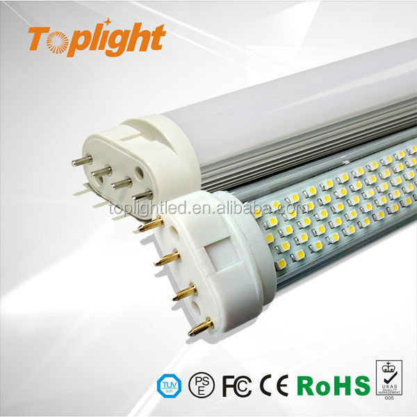 15W 417mm 2835 SMD led tube 2g11 4-pin led tubo