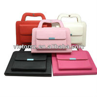 For iPad Mini BriefCase, Leather Bag for iPad Mini w/Handle