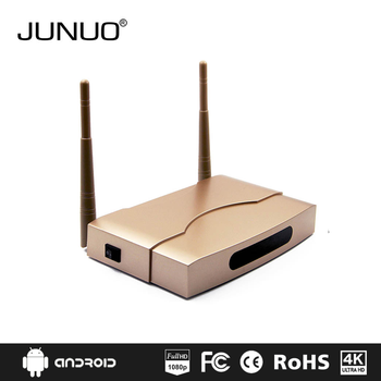 JUNUO wholesale newest fast version s905x 2GB ram h.265 4k 6.0 android smart tv box full hd media player
