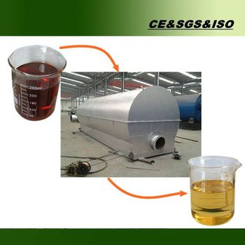 Hot sale used motor oil recycling machine distillation plant into base oil
