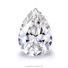 wholesale lab created silicon rough moissanite 12x8mm pear cut vvs diamond