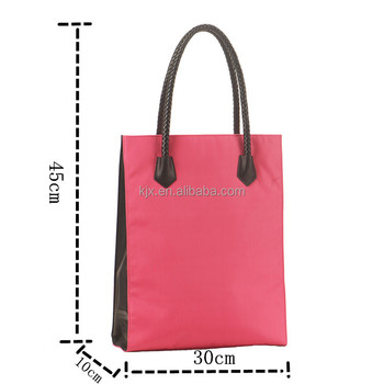 Natural Cotton Fabric Shopping Bag with Embroidery Logo