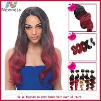 5a 6a 7a Grade Unprocessed ombre color Body Wave Brazilian Hair Weft