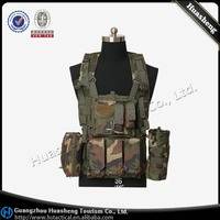 Army tactical gear jungle camo utility paintball vest China factory