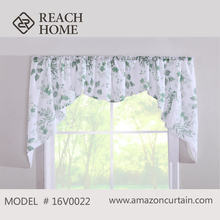 2016 Hot Selling Custom Valance double swag curtain with valance
