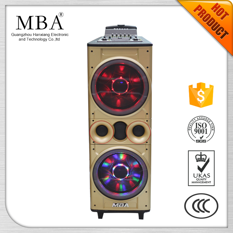 Bluetooth led lamp trolley speaker built in amplifier with usb port