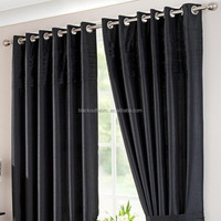 elegant 100% polyester blackout curtain design for home textile curtain