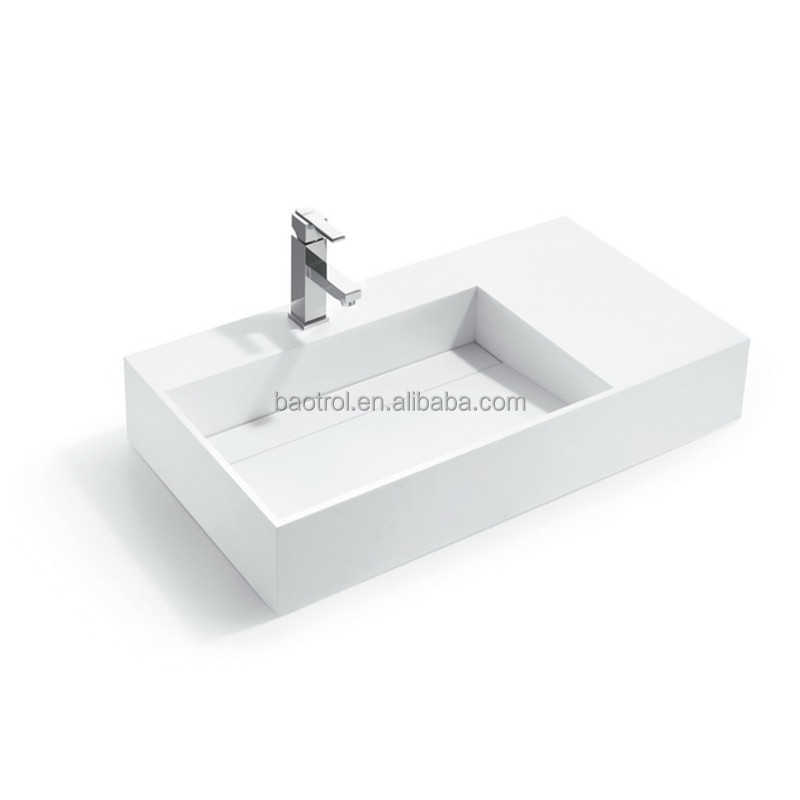 polyester resin stone line drainer sink with faucet dining room wash basin