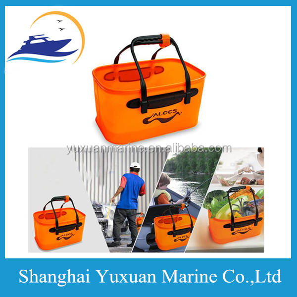 Multifunction Waterproof Outdoor Camping Folding Car Washing Travel Folding 17L Fishing Hiking Bucket Barrel Dry Bag