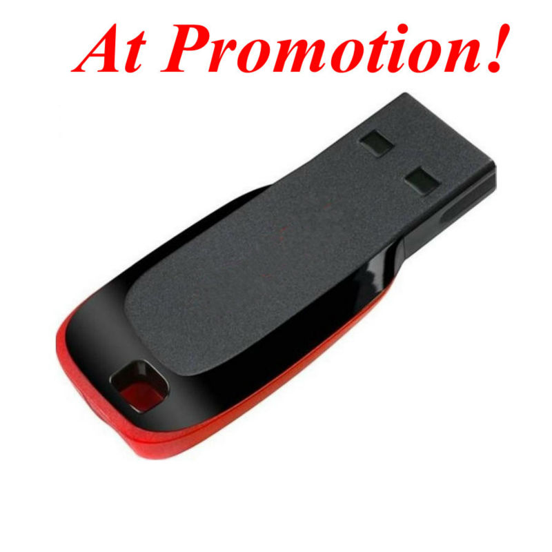 Original Brand Cruzer Blade 32GB USB Flash Drive 64GB 8GB 16GB 4GB Real Capacity with Blister Packing Wholesale