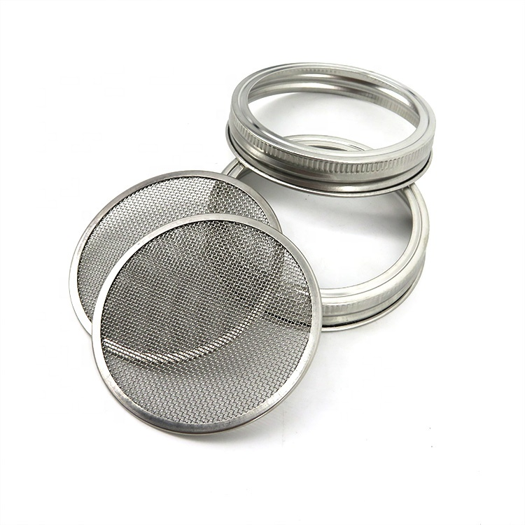 70mm 86mm stainless steel sprouting lid for wide mouth mason jar