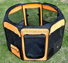 "36"" Deluxe Soft Sided Folding Pet Playpen / Crate - Orange / Black"