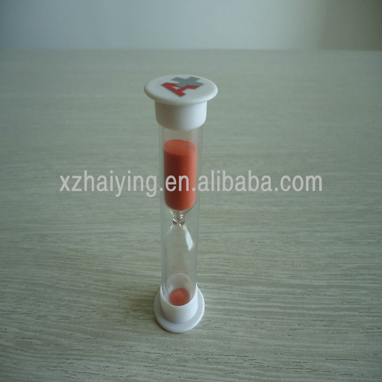 Wholesale Simple 3min plastic promotional hourglass mini sand timer with logo printing