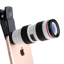 8X Zoom Clip universal mobile Phone Camera Lens phone camera lens Telescope Lens for iPhone and Android
