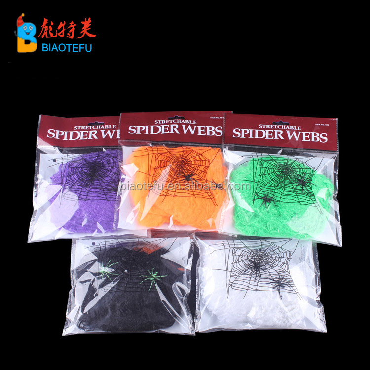 spider web with spider cobweb for indoor decoration