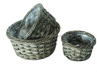 wicker flower pot,garden pot