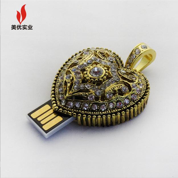 Luxury Diamond USB Flash Memory Stick 64GB 32GB Pen Drive