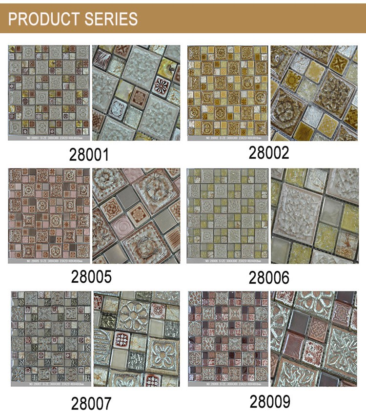 305*305mm Fashion Design Mosaic Wall Tile Interior Tile (MS1515-D04)