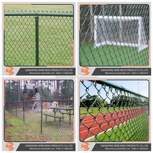 Choose supply PVC coated chain link fence/football playground fence for sport ground