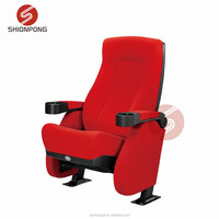 red cinema chair theater movie hall equipment church chair