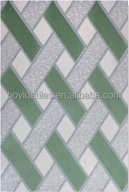 Bathroom Green Ceramic Wall Tiles Design 20*30 (W32003)