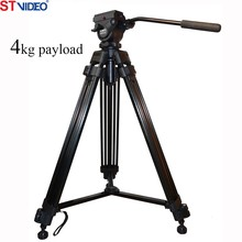 Video camera tripod,3kg payload 2 stages video camera tripod, photography tripod