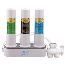 water filter 3 stage countertop ceramic alkaline water filter pH 7.85, Table Counter top water filter