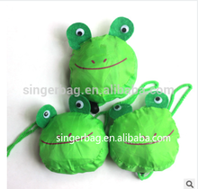 New design nylon foldable shopping bag animal with high quality