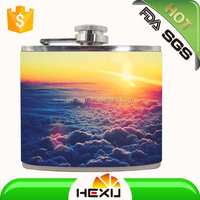 5oz mini leather hip flask orchids flask seedling for sale