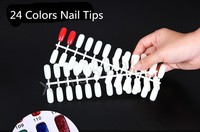 Large Production Base Supplier Promotional Natural Short Artificial Nails Blue