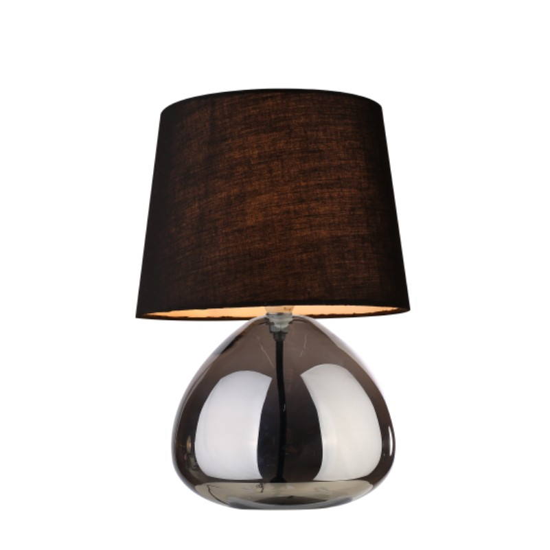 modern high quality glass table lamp with fabric shade for hotel home decoration