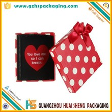 China supplier decorative polka dots cardboard box