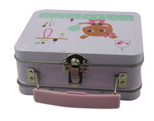 Metal Lunch Box With Handle Custom Tin Lunch Small Candy Handle Tins