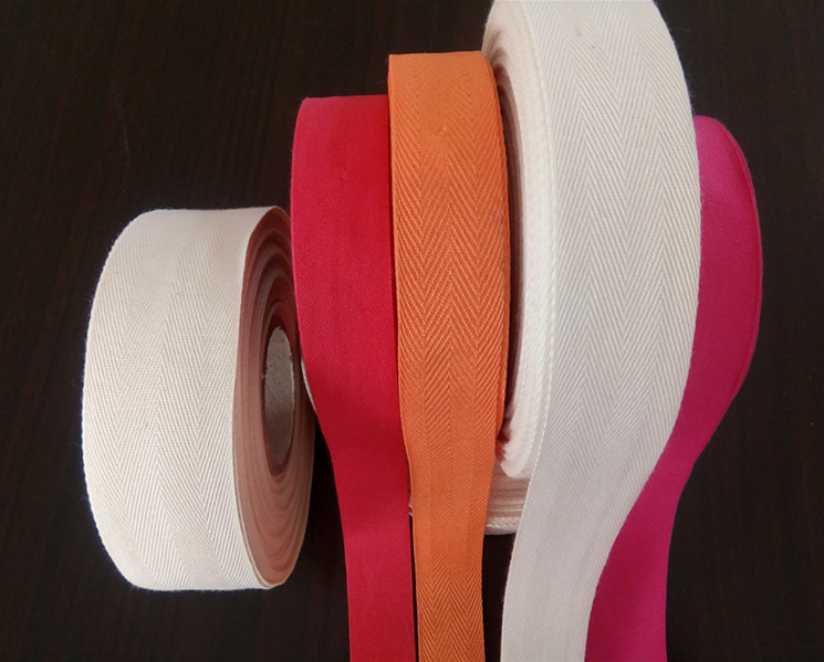 Raw white 30mm cotton fabric ribbon for bags, shoes ,garments