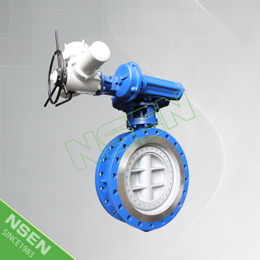 NSEN Reliable Supplier!Double Flange Electric Butterfly Valve API609