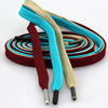 Factory direct polyester multi colored flat drawstring cord with tips for hoodie