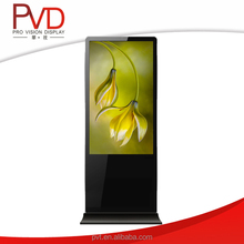 46 Inch Floor Standing Round Corner Digital Signage Solution For Advertising