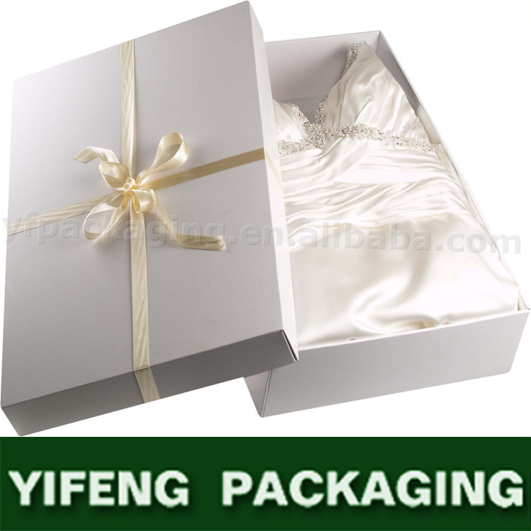 Hotsale large cardboard paper box for wedding dress buy for Acid free cardboard box for wedding dress