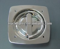 Stainless steel recessed D handle latch